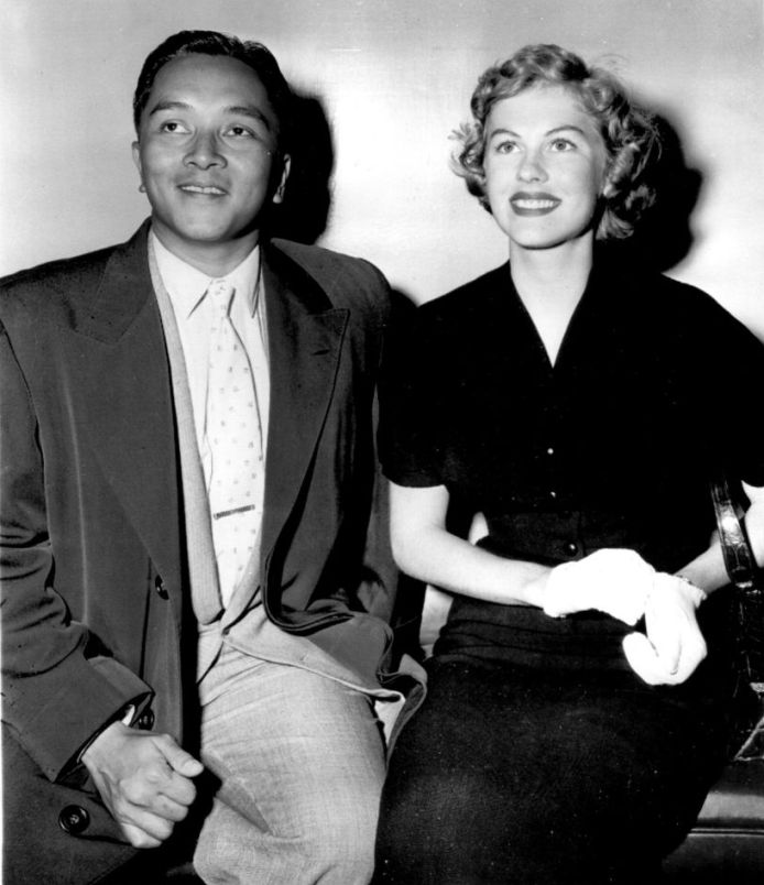 Armi Kuusela and her husband Virgilio Hilario photo